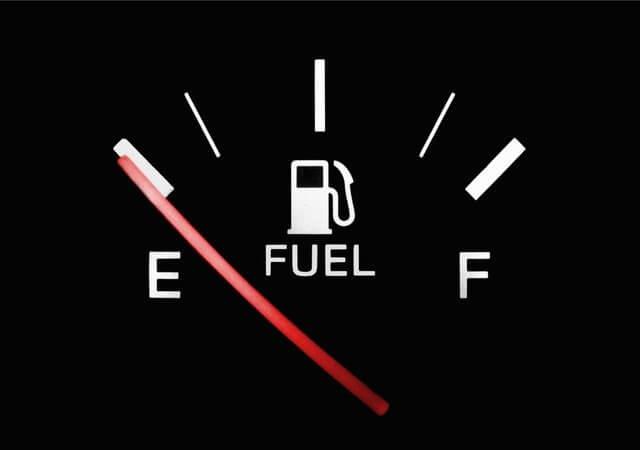 ガソリンエンプティマークの画像
