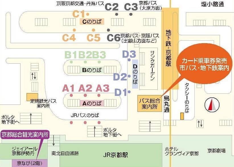 京都駅前バス乗り場