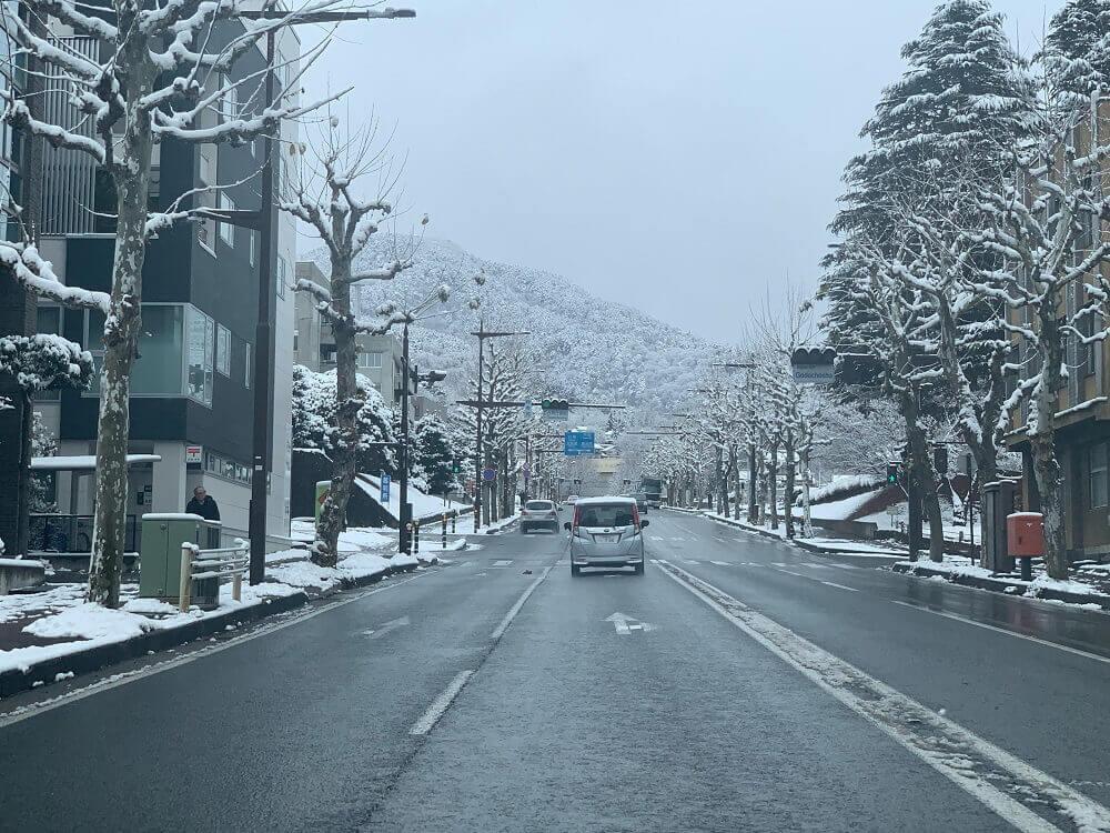 長野市内の風景